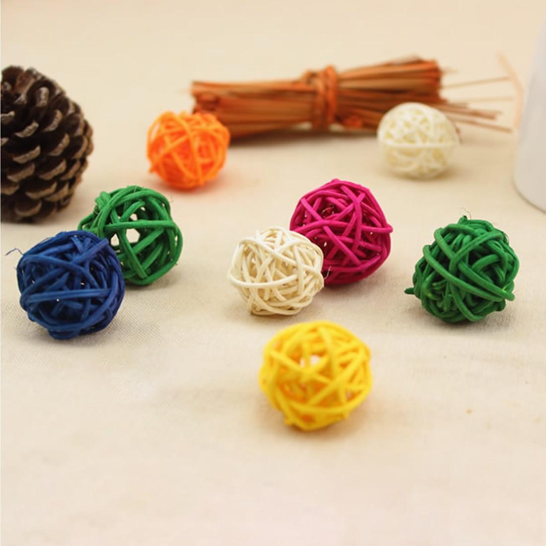 3 10cm 10 colors wedding decorative rattan ball christmas decor baby