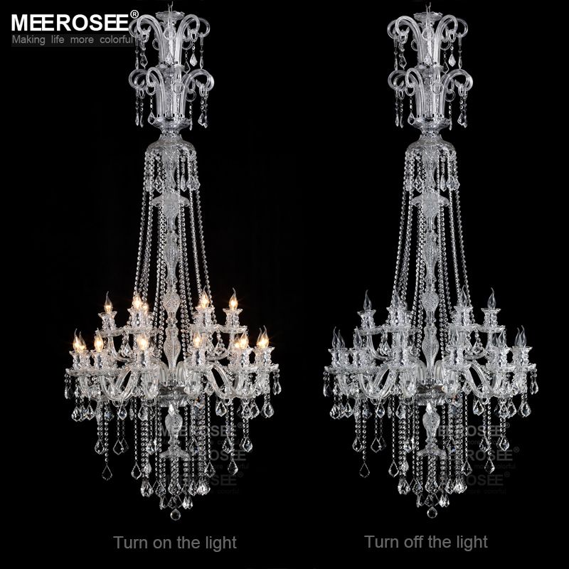 Contemporary Clear Crystal chandelier lights Galaxy Long Cristal suspension lamp Glass lighting fixture 100% Guaranteed lustre guaranteed 100