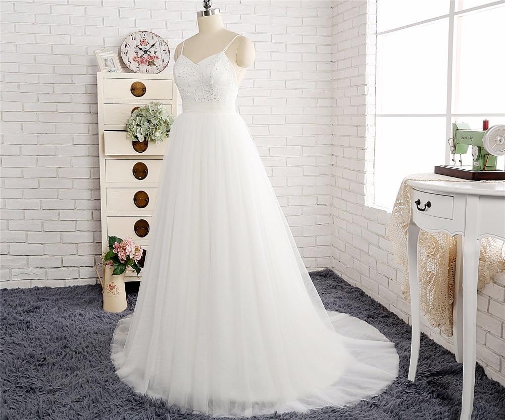 Einfache Elegante A linie Brautkleider 2018 Herzförmiger ausschnitt ...