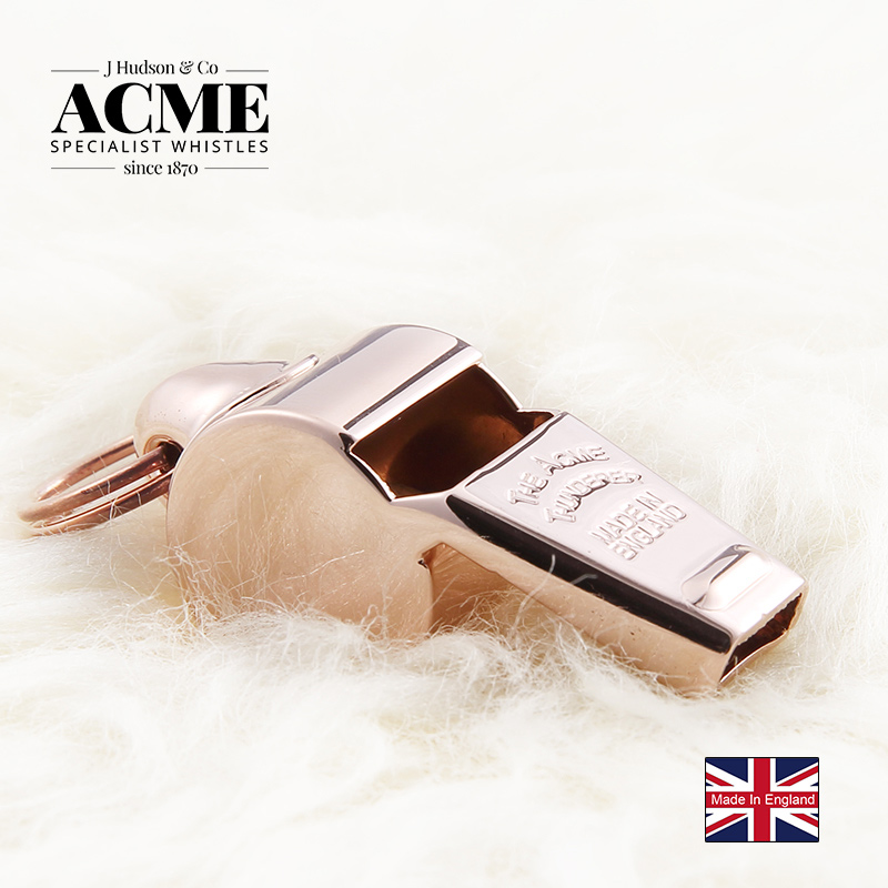 British ACME 59.5 high-end rose gold referee coach basketball soccer whistle sports whistle with free gift box