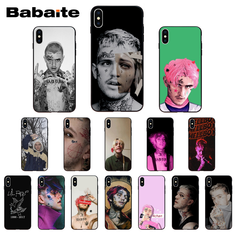 Babaite <font><b>Lil</b></font> <font><b>Peep</b></font> TPU Soft Silicone Phone <font><b>Case</b></font> Cover For <font><b>iPhone</b></font> <font><b>8</b></font> 7 6 6S Plus X XS XR XSMax 5 5S SE 5C11 11pro 11promax image