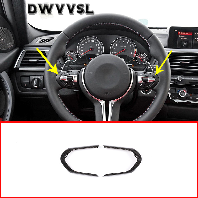 Carbon Fiber Steering Wheel Frame Trim for BMW M3 M4 M5 1 3 Series X5M ABS