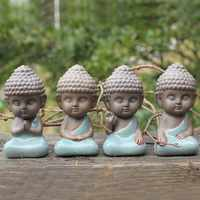 Статуя Будды, статуэтка, украшение, монах, чая, для домашних животных, автомобильные аксессуары, бонсай, садовое украшение, тафагата, индийск...