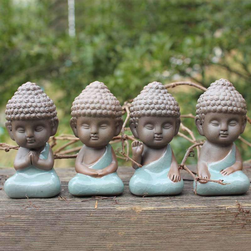 buddha statue figurine decoration monk tea pet car accessories bonsai garden house decoration tathagata India Yoga Mandala