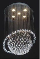 New modern 5 light crystal combination Saturn Crystal Chandelier