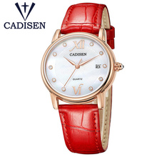 2017 ladies fashion watch luxury brand CADISEN reloj mujer lady quartz leather waterproof