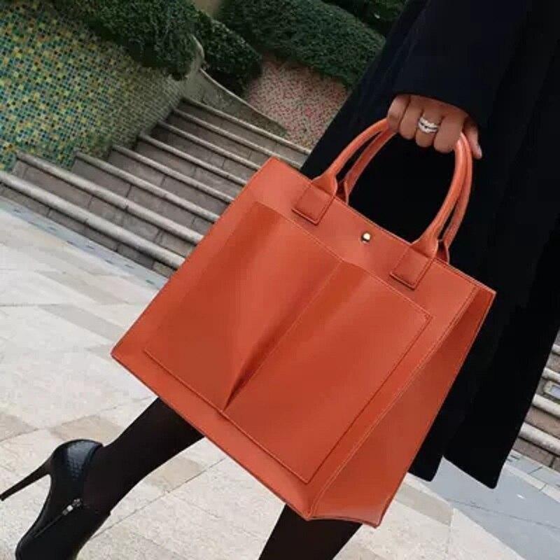 One-shoulder big bag female 2018 new Korean version of the simple wild handbag стоимость