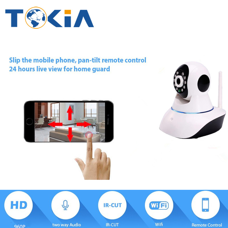 Tokia HD Wireless Wifi 960P IP Camera IR Night Vision P2P Security Camera Two Way Audio  Surveillance cameras with wifi