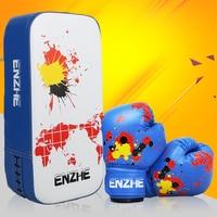1 Pc Sanda Foot Target 1 Pair Child Kids Punching Bag Gift Carton Boxing Gloves Taekwondo