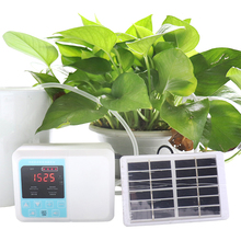 New Garden Intelligent Drip irrigation system Double pump Solar Automatic watering device Potted plant Timer Water Pump 1Set