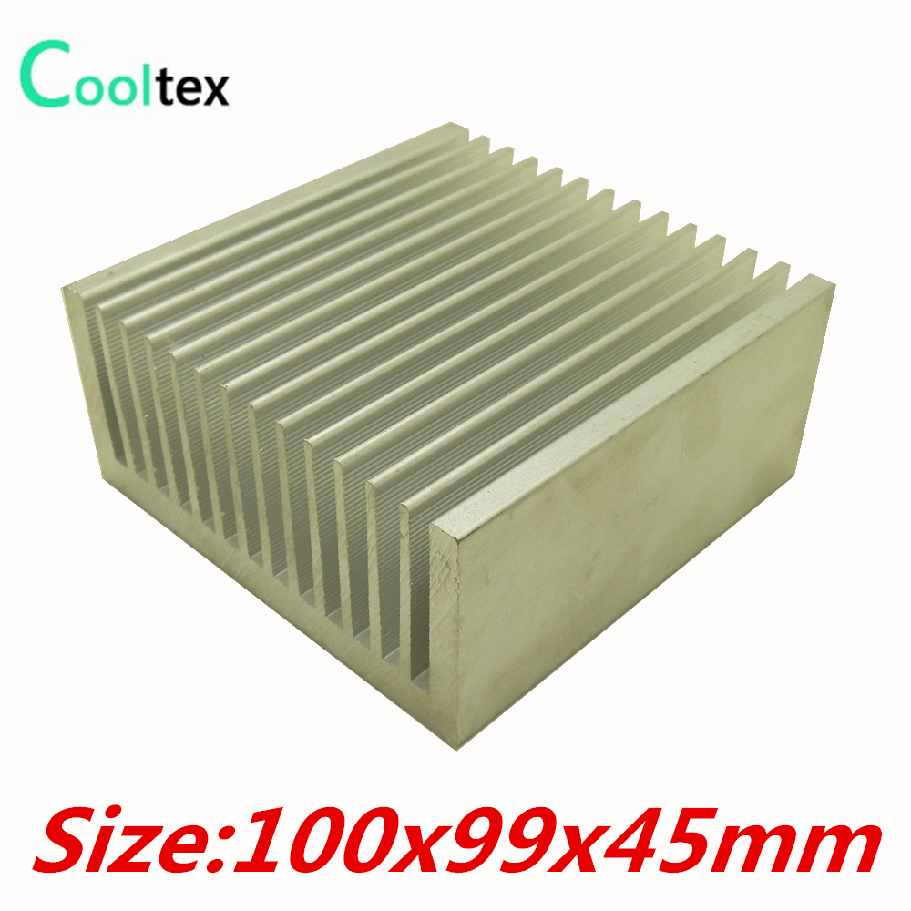 (High power) 100x99x45mm Aluminum Extruded heatsink Heat Sink radiator cooler for chip LED Electronic cooling DIY цена и фото