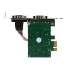 Двойной Порты 9-контактный последовательный RS232 DB9 PCI-E карта Com AC332