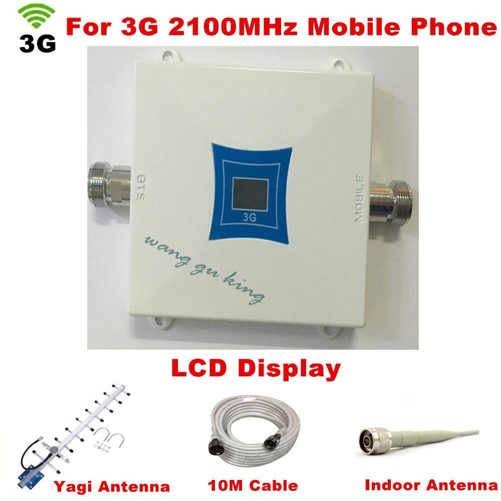 Antenne extérieure de 2100MHZ Yagi + antenne d'intérieur, récepteurs d'amplificateur de répéteur de 3G, répéteur de Signal de téléphone portable de propulseur de WCDMA