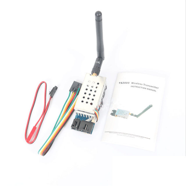 5.8G 2000MW 8CH FPV Wireless Transmitter TS582000 2Km Range AV Video Audio Sender TX for Multicopter FPV Transmission