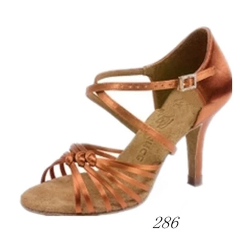 Ballroom Latin dance shoes women Salsa Tango BD 286 shoes Free shoes bag Deep skin and