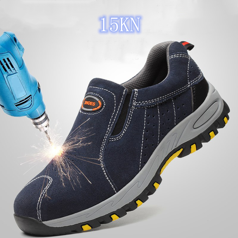 A Professional Work Shoes Mens Sneakers 2019 Safety Shoes Women Breathable Steel Toe Shoes Men Shoe Couple for worker Slip on