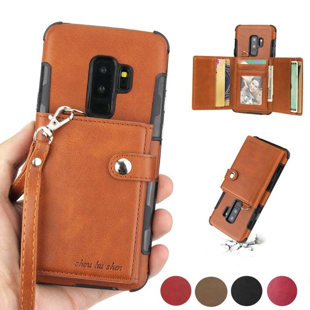 Wallet Flip Cover For Samsung Galaxy Note 9 8 Note8 Luxury Shockproof Coque For Samsung Galaxy s8 s9 plus Note9 Case S9plus S10