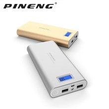 PINENG PN-989 Metal 20000mAh Dual USB External Mobile Battery Charger Power