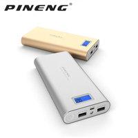 PINENG PN 989 Metal 20000mAh Dual USB External Mobile Battery Charger Power Bank For Xiaomi i8 Samsung iPhoneX