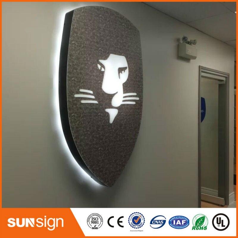 Taobao поставщиком золота с плоской из нержавеющей стали со светодиодной подсветкой объемных букв