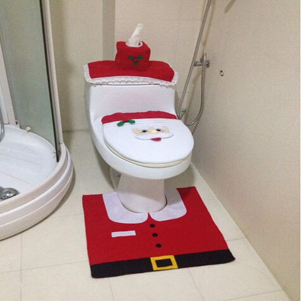 Cool toilet seat covers - Bathroom Accessories Toilet Seat Cover 4 Pieces Set Non Woven Creative Toilet Floor
