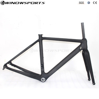 Full Carbon Cyclocross Frame Thru Axle 142*12 Bike Frame 700*40C Bike Carbon frame Cyclocross bike frameset