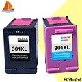 Hisaint lista 2 pacote de substituição para hp 301xl cartucho de tinta 301 xl CH563EE CH564EE para Deskjet 1000 1050 2000 2050 impressora