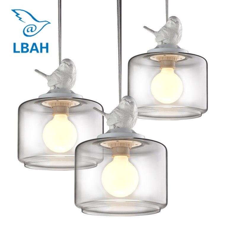 Lâmpadas e lanternas droplight restaurante droplight três aves Nordic personalidade criativa dos lustres quarto