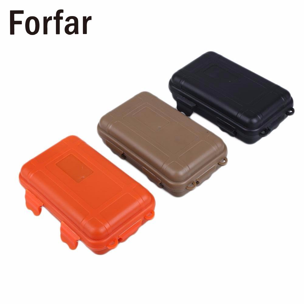 70ba00281b23 US $1.84 11% OFF|Outdoor Shockproof Waterproof Boxes Survival Airtight Case  Holder For Storage Matches Small Tools EDC Travel Sealed Containers-in ...