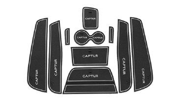 Non-slip Interior door pad/cup mat door gate slot pad for renault captur 2016 2017, car accessories for nissan navara np300 d23 2015 2016 gate slot pad interior door pad cup non slip mats 20pcs