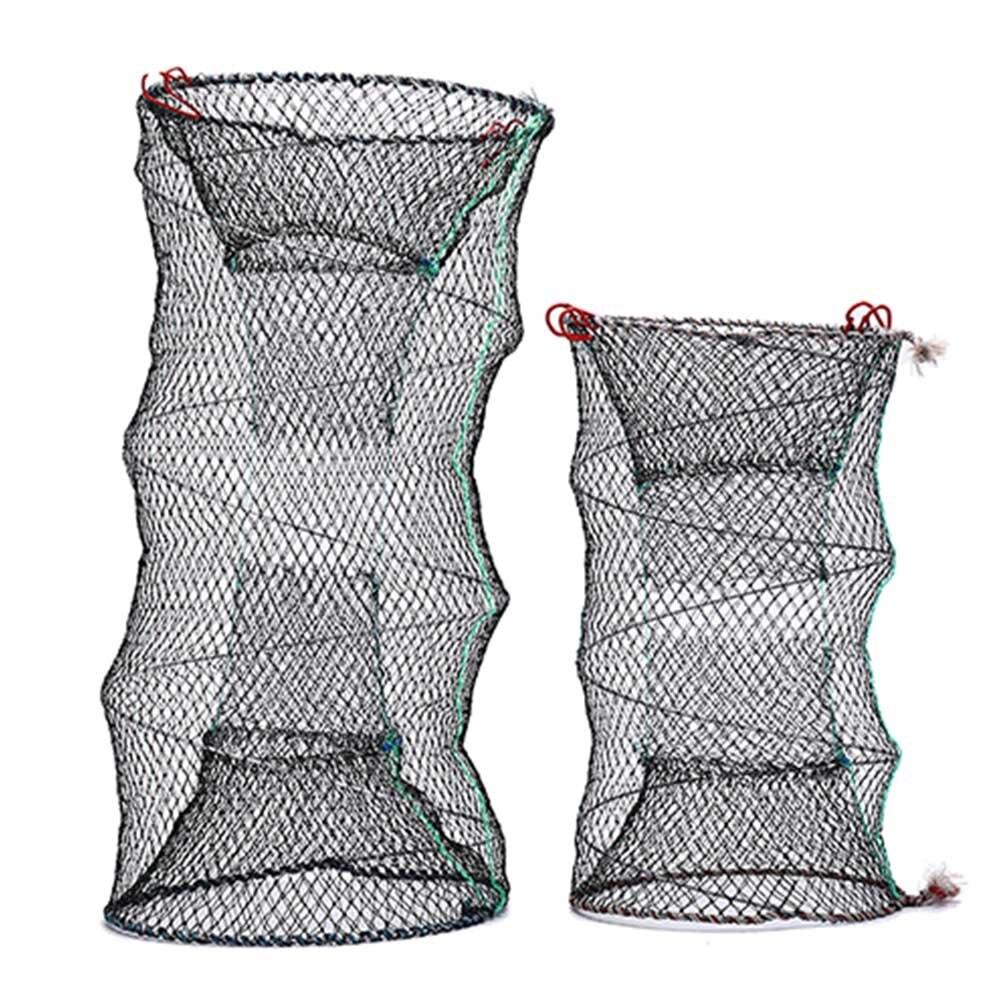 4 tailles pêche pliable piège fonte garder Net crabe écrevisses homard attrape-Pot piège poisson filet anguille crevette appât vivant