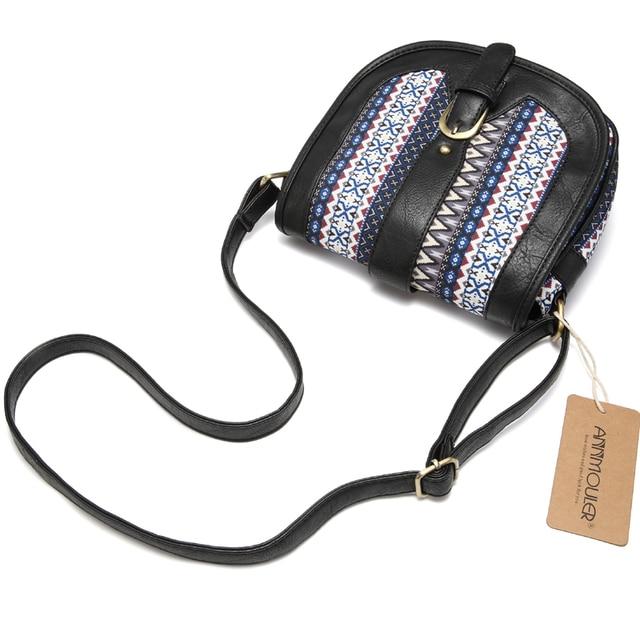 Women Shoulder Sling Bag Vintage Small Bag Pu Leather Patchwork Crossbody Bag Bohemian Style Lady Messenger Bag 4