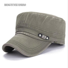 New Cotton Cap Men Women Army Hat Flat Top Hats Washed Bone Masculino High Qualiy Outdoor Sports Baseball Caps climate 2017 new solid red star army cool flat top caps china communist party men international brigades army flat top hat caps