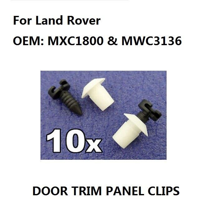 MXC1800 Stud Fastener for Interior Door Card 10x Defender Plastic Trim Clip