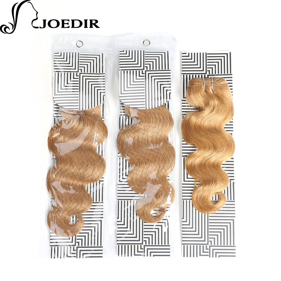 Hair Extensions & Wigs Charitable Joedir Pre-colored Indian Body Wave Honey Blonde Human Hair Bundles 1 Pc Remy Hair Weave 1 Bundle 27# Hair Extensions 100g