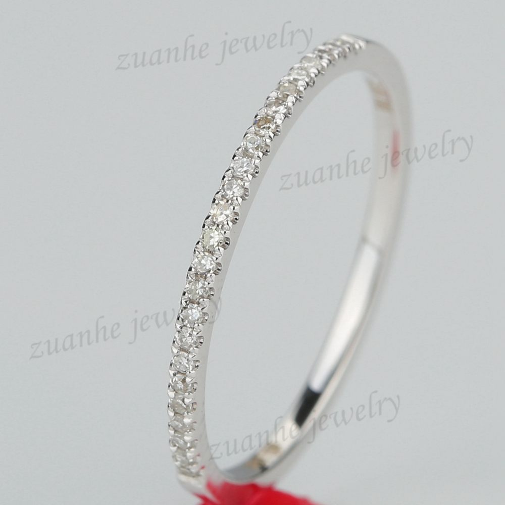 CT Natural Diamond Half Eternity Ring Solid k White Gold Women Engagement