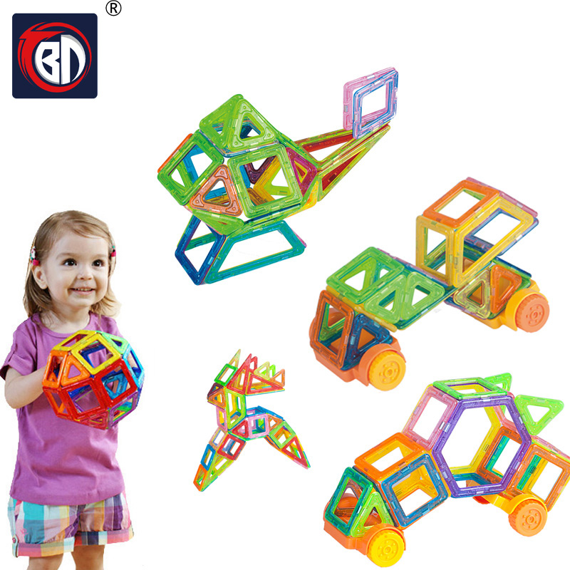 BD Mini Magnetic Blocks 190pcs Magnetic Designer Blocks Construction Plastic Educational Magnetic Blocks font b Toys