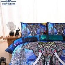 3d 3 шт набор постельного белья Слоны волк Лев этнический стиль