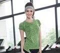 Camisa das mulheres T de Mangas Curtas T-shirt Das Mulheres Top Roupas de Fitness de Secagem Rápida Higroscópico 10E