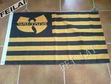 3X5FT Wu tang wu flag Activities Decoration banner  Free Shipping  custom flag 100D Digital Print