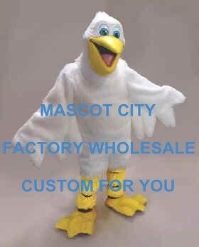 Pelican Pete mascotte Costume adulte taille dessin animé personnage mascotte tenue Costume fantaisie robe carnaval fête Cosply Costume SW756