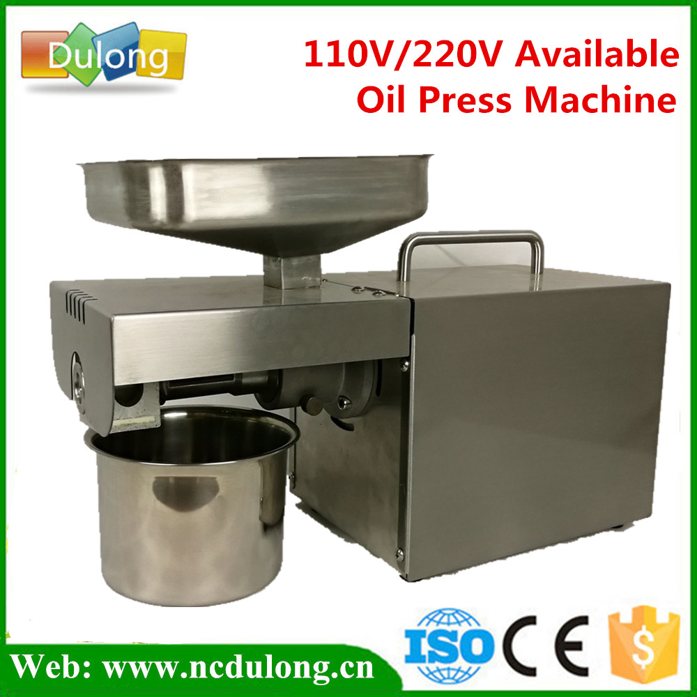 High Quality Stainless Steel Oil Press Machine For Peanut ,Seed ,Sunflower ,Coconut 110V or 220V available