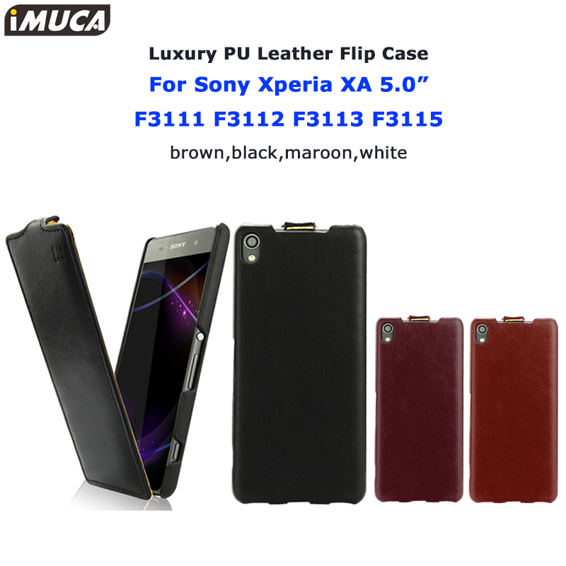 for Sony Xperia XA Case Cover original iMUCA Flip Leather cases for Sony Xperia XA F3111 F3112 F3113 F3115 phone case back cover