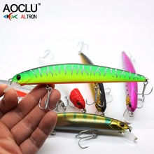 AOCLU Jerkbait wobblers 7 Colors 13cm 20.0g Hard Bait Minnow Crank Fishing lures Bass Fresh Salt water 4# VMC hooks