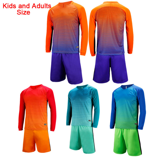 Team Customized Kids Adult Long-Sleeved Soccer Jerseys Football Shirts  SetsTraining Uniforms d60e81ddc