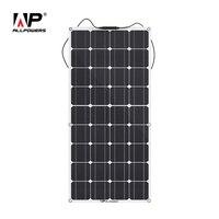 ALLPOWERS 100 W 18 V 12 V Гибкая солнечная панель для моторных лодок на крышу зарядное устройство для RV, лодки, кабины, палатки