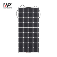 ALLPOWERS 100W 18V 12V Flexible Solar Panel for Motorhome Boats Roof Battery Charger for RV, Boat, Cabin, Tent
