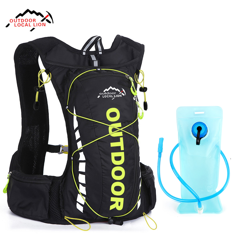LOCAL LION 10L Cycling Backpack Breathable Hydration Backpack For Bicycle Women Men Running Outdoor Sport Bag No Water Bag