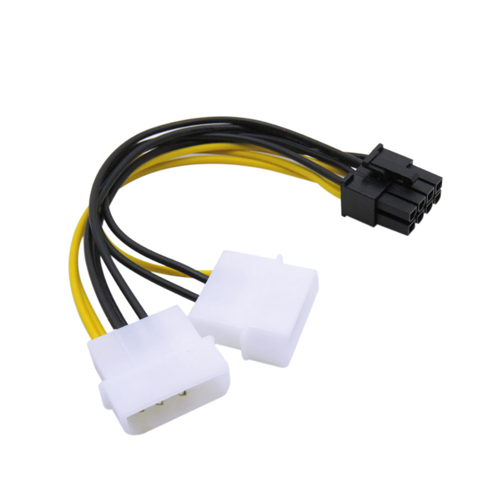 Marsnaska Power Cable 2 IDE Dual 4pin IDE Male To 8 Pin Female PCI-E Y IDE Power Cable Adapter Connector For Video Card