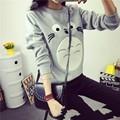 Espesar nueva manera de los hombres/de las mujeres unisex sudadera harajuku de dibujos animados totoro sudaderas animales remiendo flojo 3d pullover hoodies